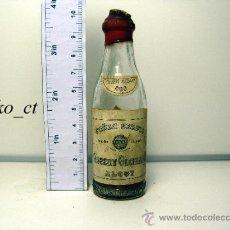 Coleccionismo de vinos y licores: BOTELLITA BOTELLIN COÑAC SERPIS BODEGAS GISBERT OLCINA Y CIA ALCOY. Lote 38449534