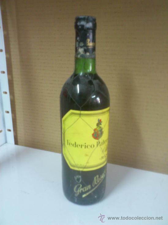 . FEDERICO PATERNINA OLLAURI RIOJA GRAN RESERVA 1970. VINO TINTO. CONSERVADO EN BODEGA. SIN ABRIR (Coleccionismo - Botellas y Bebidas - Vinos, Licores y Aguardientes)