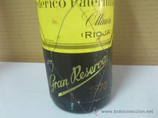 Coleccionismo de vinos y licores: . FEDERICO PATERNINA OLLAURI RIOJA GRAN RESERVA 1970. VINO TINTO. CONSERVADO EN BODEGA. SIN ABRIR - Foto 2 - 38951352