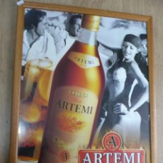 Coleccionismo de vinos y licores: CUADRO ENMARCADO EN MADERO Y CUBIERTO DE CRISTAL RON ARTEMI. Lote 39850231