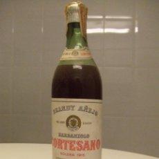 Coleccionismo de vinos y licores: BOTELLA BRANDY AÑEJO BABANZOLO CORTESANO SOLERA 1915 PRECINTO 80 CENTIMOS . Lote 40004387