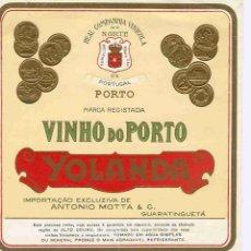 Coleccionismo de vinos y licores: ETIQUETA VINO OPORTO. Lote 40359357