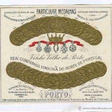 Coleccionismo de vinos y licores: ETIQUETA VINO OPORTO. Lote 40524438