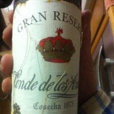 Coleccionismo de vinos y licores: CONDE DE LOS ANDES. GRAN RESERVA 1975.RIOJA. HARO. ESPAÑA. EMBOTELLADO POR FEDERICO PATERNINA.. Lote 40747927