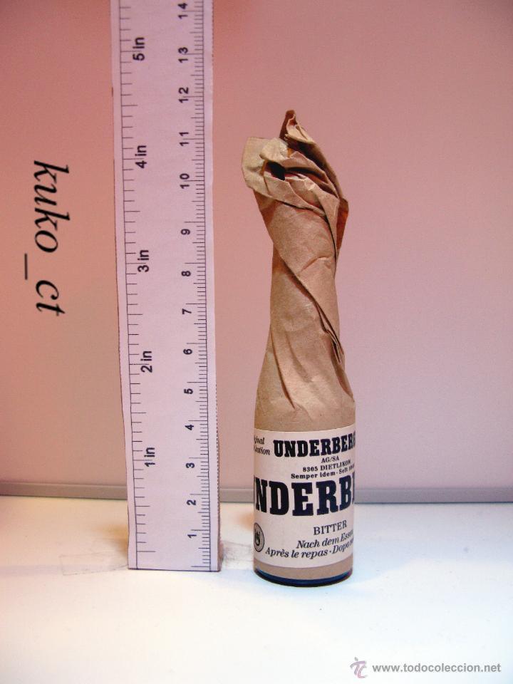 BOTELLITA BOTELLIN LICOR UNDERBERG (Coleccionismo - Botellas y Bebidas - Vinos, Licores y Aguardientes)