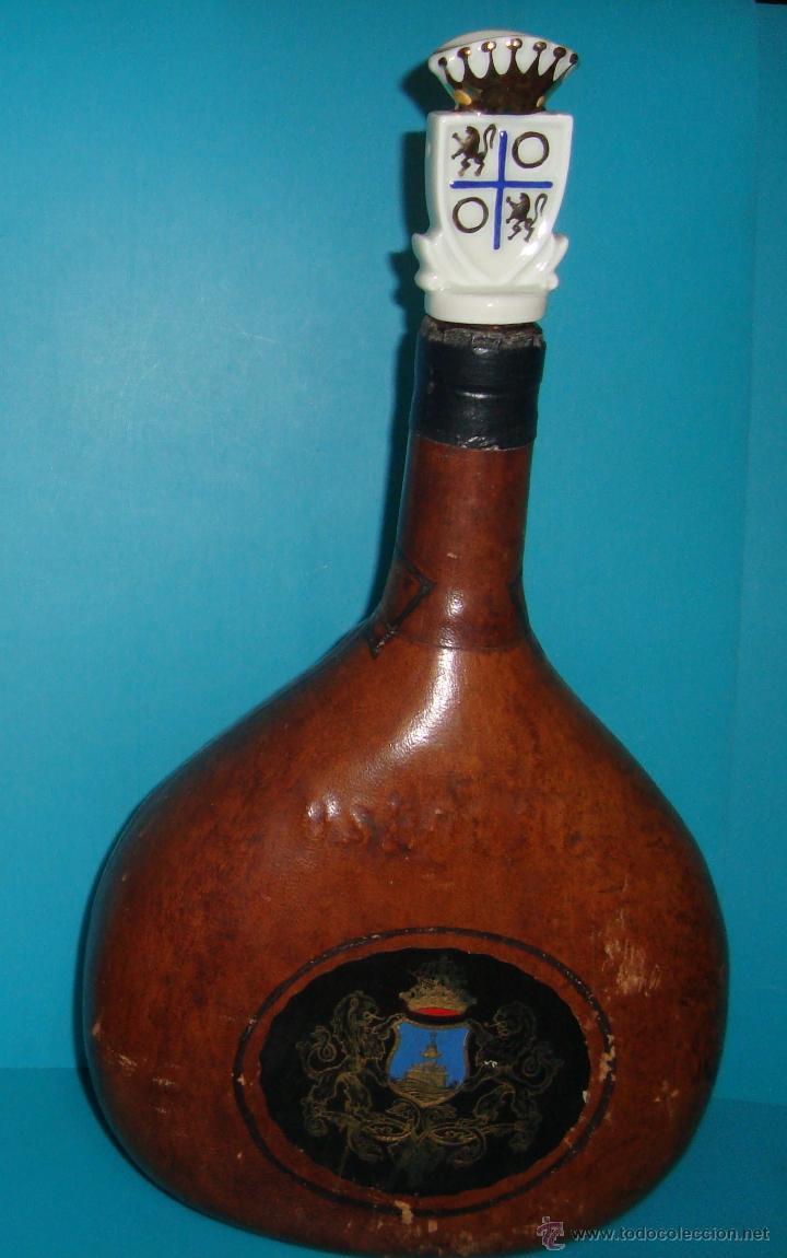 Coleccionismo de vinos y licores: BOTELLA MAGNO DE OSBORNE FORRADA EN CUERO - Foto 2 - 41058084