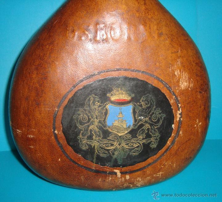 Coleccionismo de vinos y licores: BOTELLA MAGNO DE OSBORNE FORRADA EN CUERO - Foto 3 - 41058084