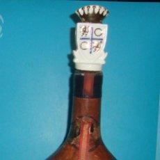 Coleccionismo de vinos y licores: BOTELLA MAGNO DE OSBORNE FORRADA EN CUERO. Lote 41058084