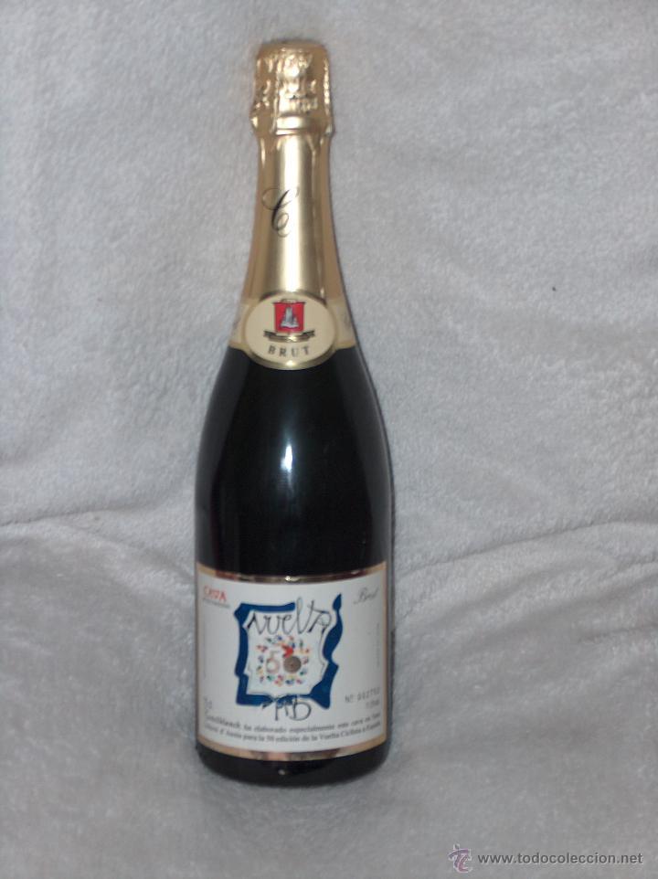 BOTELLA DE CAVA CASTELLBLANCH, CONMEMORATIVA 50 ANIVERSARIO VUELTA CICLISTA A ESPAÑA 1995. (Coleccionismo - Botellas y Bebidas - Vinos, Licores y Aguardientes)