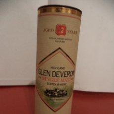 Coleccionismo de vinos y licores: BOTELLIN DE WHISKY HIGHLAND GLEN DEVERON. AGED 12 YEARS. DESTILERÍAS MACDUFF. SCOTLAND.. Lote 42501368