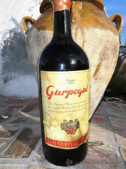 BOTELLA DE 5 LITROS DE VINO, GURPEGUI DE 1.994 (Coleccionismo - Botellas y Bebidas - Vinos, Licores y Aguardientes)