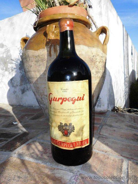 Coleccionismo de vinos y licores: BOTELLA DE 5 LITROS DE VINO, GURPEGUI DE 1.994 - Foto 2 - 42618013
