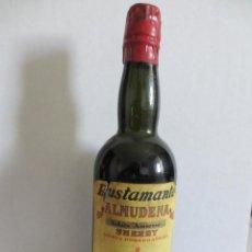 Coleccionismo de vinos y licores: BOTELLIN DE VINO ALMUDENA, SOLERA AMOROSA- SHERRY. DESTILERÍAS JOSÉ BUSTAMANTE, S. L. JEREZ - ESPAÑA. Lote 43118819