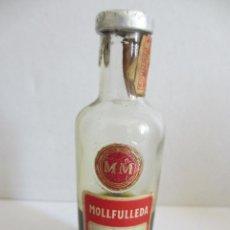 Coleccionismo de vinos y licores: BOTELLIN DE LICOR PEPPERMINT. DESTILERÍAS MOLLFULLEDA . ESPAÑA.. Lote 43159488