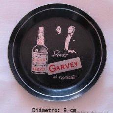 Coleccionismo de vinos y licores: PLATILLO ANTIGUO BODEGAS GARVEY BRANDY JEREZ. Lote 43298269