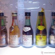 Coleccionismo de vinos y licores: BOTELLITA BOTELLIN LOTE CAJA BRANDY TORRES 5 UNIDADES . Lote 43409843