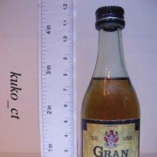 Coleccionismo de vinos y licores: BOTELLITA BOTELLIN BRANDY GRAN GARVEY BODEGAS GARVEY JEREZ. Lote 43475894