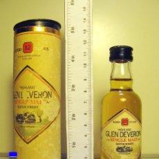Coleccionismo de vinos y licores: BOTELLITA BOTELLIN WHISKY SCOTCH SINGLE MALT GLEN DEVERON 12 YEARS. Lote 44217646