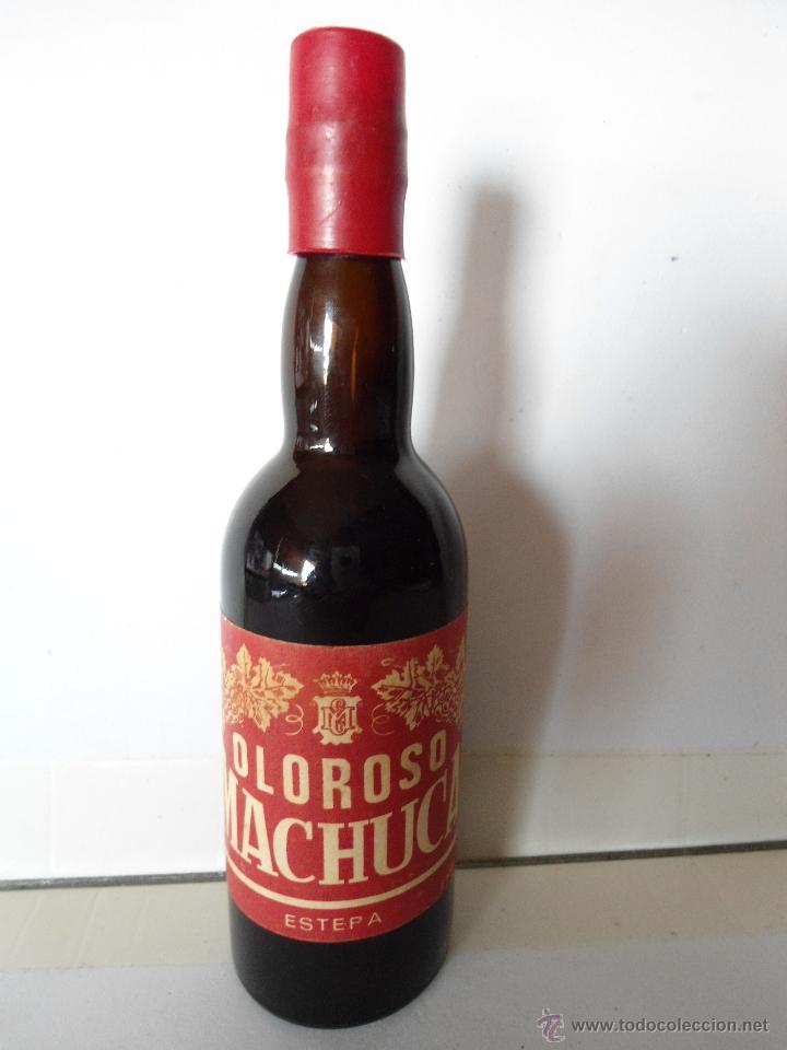 BOTELLITA DE OLOROSO MACHUCA, ESTEPA. ESTA LLENA. (Coleccionismo - Botellas y Bebidas - Vinos, Licores y Aguardientes)