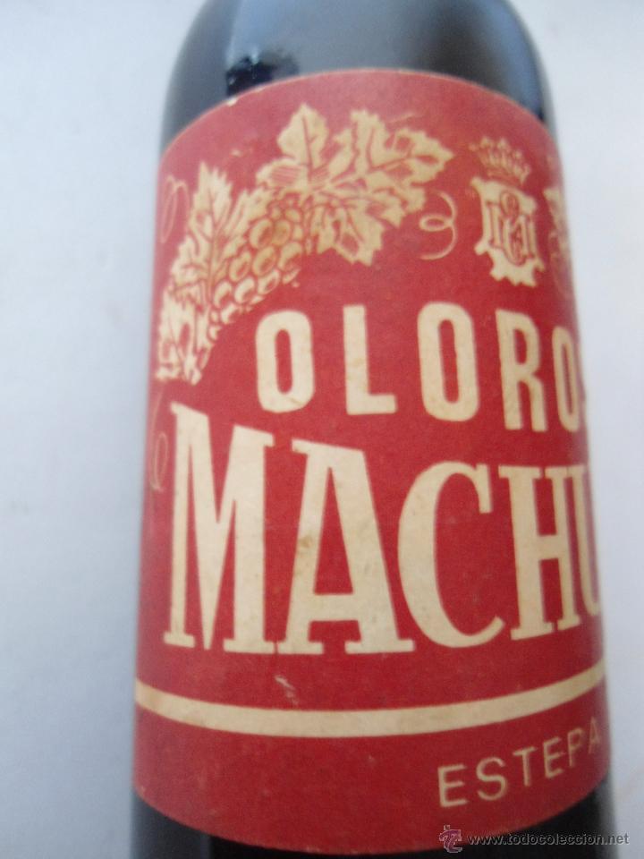 Coleccionismo de vinos y licores: BOTELLITA DE OLOROSO MACHUCA, ESTEPA. ESTA LLENA. - Foto 3 - 44466034