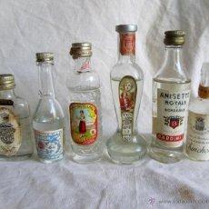 Coleccionismo de vinos y licores: 6 ANTIGUAS MINI BOTELLAS BOTELLITA DE ANIS. Lote 44921830