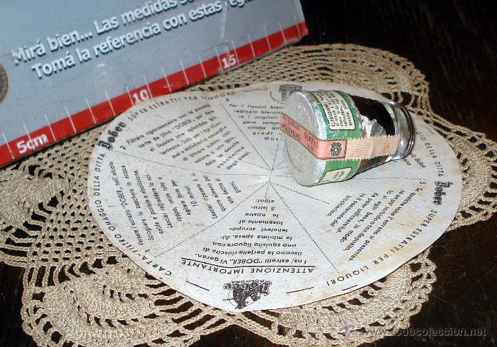 Coleccionismo de vinos y licores: ANTIGUO Y RARO FERNET DOBER ITALIANO 1950 CONCENTRADO CON ETIQUETAS ORIGINALES - Foto 2 - 45089969