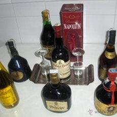 Coleccionismo de vinos y licores: 7 BOTELLAS BRANDY LLENAS GRAN DUQUE ALBA WALNUT BROWN CARDENAL MENDOZA CARLOS I MONSEÑOR NAPOLEON.... Lote 45091777