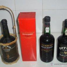 Coleccionismo de vinos y licores: 3 BOTELLAS LLENAS DE VINO DE OPORTO: COCKBURN'S, SANDEMAN Y OFFLEY DUKE OF OPORTO.. Lote 45092178
