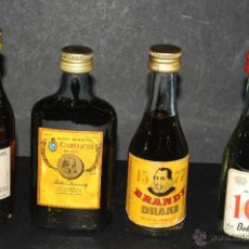 Coleccionismo de vinos y licores: BOTELLAS DE COLECCIONISMO BRANDY 103, DRAKE, MASCARO Y CARLOS III. Lote 45515907