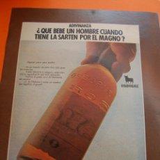 Coleccionismo de vinos y licores: PUBLICIDAD REVISTA 1975 - MAGNO OSBORNE. Lote 45891905