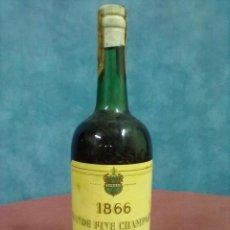 Coleccionismo de vinos y licores: COGNAC 1866 BRANDY BOTELLA COÑAC TIMBRE 80 CENTIMOS. Lote 46074878