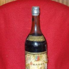 Coleccionismo de vinos y licores: BRANDY SECULAR BOTELLA DE LITRO TAPON CORCHO SIN ABRIR. Lote 47184305
