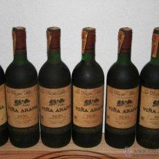 Coleccionismo de vinos y licores: 6 BOTELLAS DE VINO VIÑA ARANA RESERVA 1981. Lote 47604754