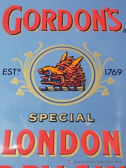 Coleccionismo de vinos y licores: Antiguo espejo cuadro bebida Gin Gordon ginebra // publicidad bebida Gin Gordon - Foto 2 - 47638424