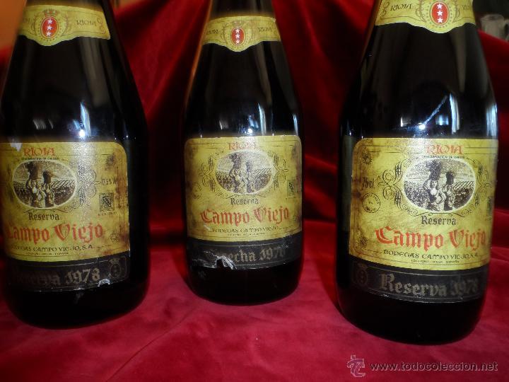 Coleccionismo de vinos y licores: EXCEPCIONAL LOTE DE TRES VINOS CAMPOVIEJO : 1 GRAN RESERVA DE 1970 Y 2 RESERVA DE 1978 - Foto 2 - 48195665