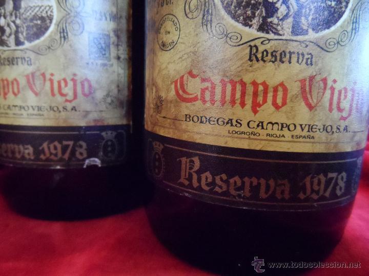 Coleccionismo de vinos y licores: EXCEPCIONAL LOTE DE TRES VINOS CAMPOVIEJO : 1 GRAN RESERVA DE 1970 Y 2 RESERVA DE 1978 - Foto 3 - 48195665