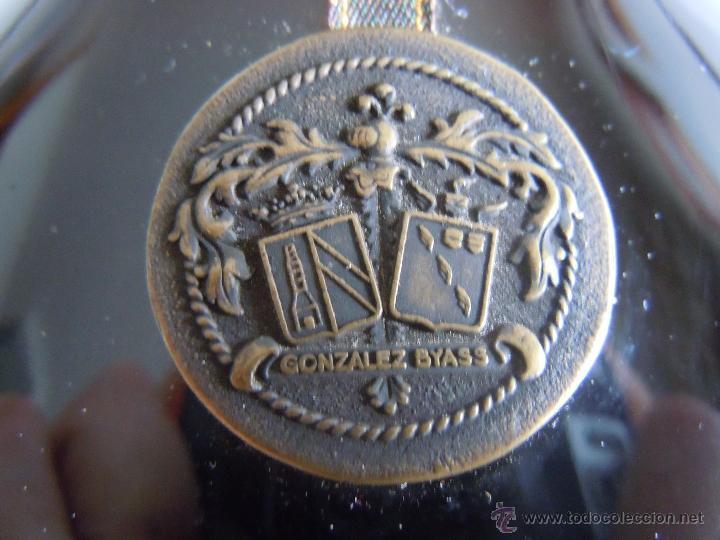 Coleccionismo de vinos y licores: ANTIGUA BOTELLA DE COGNAC X.O. DE GONZALEZ BYASS - Foto 8 - 48587108