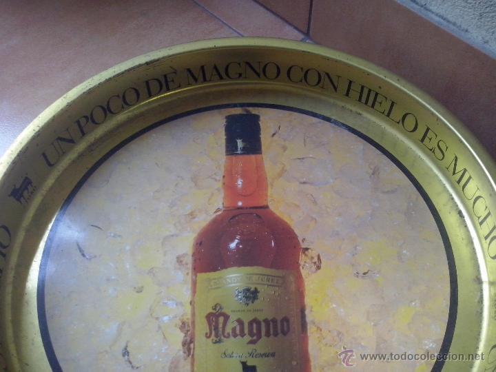 Coleccionismo de vinos y licores: bandeja de metal - osborne magno - Foto 3 - 48672407