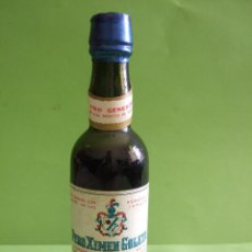 Coleccionismo de vinos y licores: BOTELLIN MNIATURA VINO GENEROSO DE LOS MONTES DE MALAGA - PERO XIMEN GOLETA - SALVADOR LOPEZ GARCIA. Lote 48834262