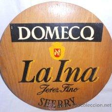 Coleccionismo de vinos y licores: PUBLICIDAD EN MADERA DE JEREZ FINO LA INA, DE DOMECQ. Lote 49054224
