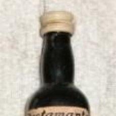 Coleccionismo de vinos y licores: BOTELLIN OLD BROWN SHERRY CARTAGO. BODEGAS JOSE BUSTAMANTE. JEREZ RF-4163. Lote 49554776
