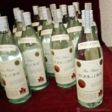 Coleccionismo de vinos y licores: BOTELLA DE RON PUJOL & GRAU DE LAS DESTILERIAS DEL PENEDES. PRECINTO DE 8 PESETAS. Lote 49648048