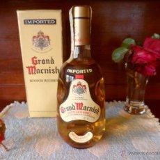 Coleccionismo de vinos y licores: WHISKY GRAND MACNISH, AÑOS 80, 75 CL.,43º, CON SU CAJA ORIGINAL, IMPECABLE CONSERVACIÓN.. Lote 49650299