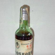 Coleccionismo de vinos y licores: ANTIGUA BOTELLA BRANDY JEREZANO OSBORNE TRES CEROS 000. PUERTO SANTA MARÍA. SELLO ÁGUILA 40 CÉNTIMOS. Lote 49712620