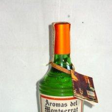 Coleccionismo de vinos y licores: ANTIGUA BOTELLA GRAN LICOR AROMAS DEL MONTSERRAT, ABADÍA MONASTERIO, PRECINTO 2 PTS. AÑOS 50-60. Lote 116555884