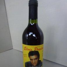 Coleccionismo de vinos y licores: BOTELLA DE VINO, CON ETIQUETA HOMENAJE A ELVIS PRESLEY.. Lote 50860703