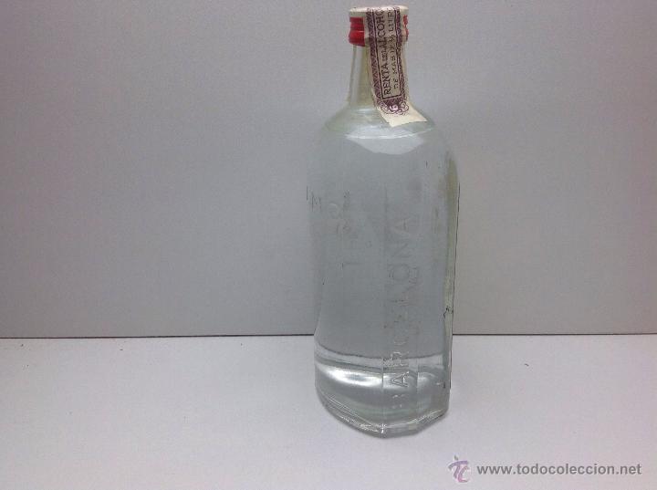 Coleccionismo de vinos y licores: RARA BOTELLA DE GINEBRA GIN M.G.PRECINTO 80 CTS DESTILERIAS MANUEL GIRO - Foto 3 - 167642126