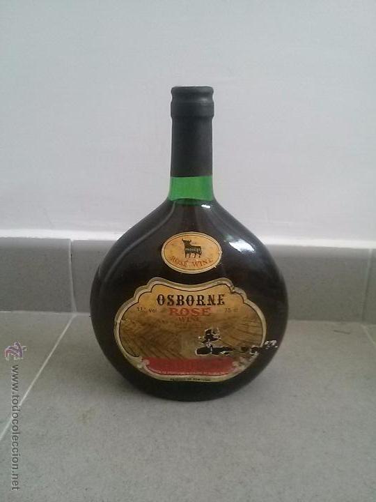 BOTELLA DE VINO LLENA SIN ABRIR DE 75CL OSBORNE ROSE WINE (Coleccionismo - Botellas y Bebidas - Vinos, Licores y Aguardientes)