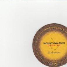 Coleccionismo de vinos y licores: POSAVASO RON MOUNT GAY BARBADOS. Lote 52984830