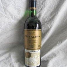 Coleccionismo de vinos y licores: BOTELLA DE VINO VIÑA ALBINA GRAN RESERVA 1978. Lote 114395824